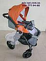 Детская коляска 2 в 1 Classik (Классик) Victoria Gold эко кожа серый с рыжим, фото 5