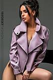 Новинка куртка з еко-шкіри : S, M, L. колір малиновий, бузковий жовтий і чорний, фото 3