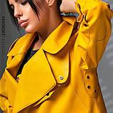 Новинка куртка из эко-кожи : S, M, L. цвет малиновый сиреневый желтый и черный, фото 8