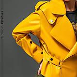 Новинка куртка з еко-шкіри : S, M, L. колір малиновий, бузковий жовтий і чорний, фото 9