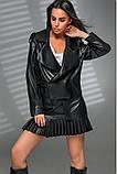 Новинка куртка з еко-шкіри : S, M, L. колір малиновий, бузковий жовтий і чорний, фото 10