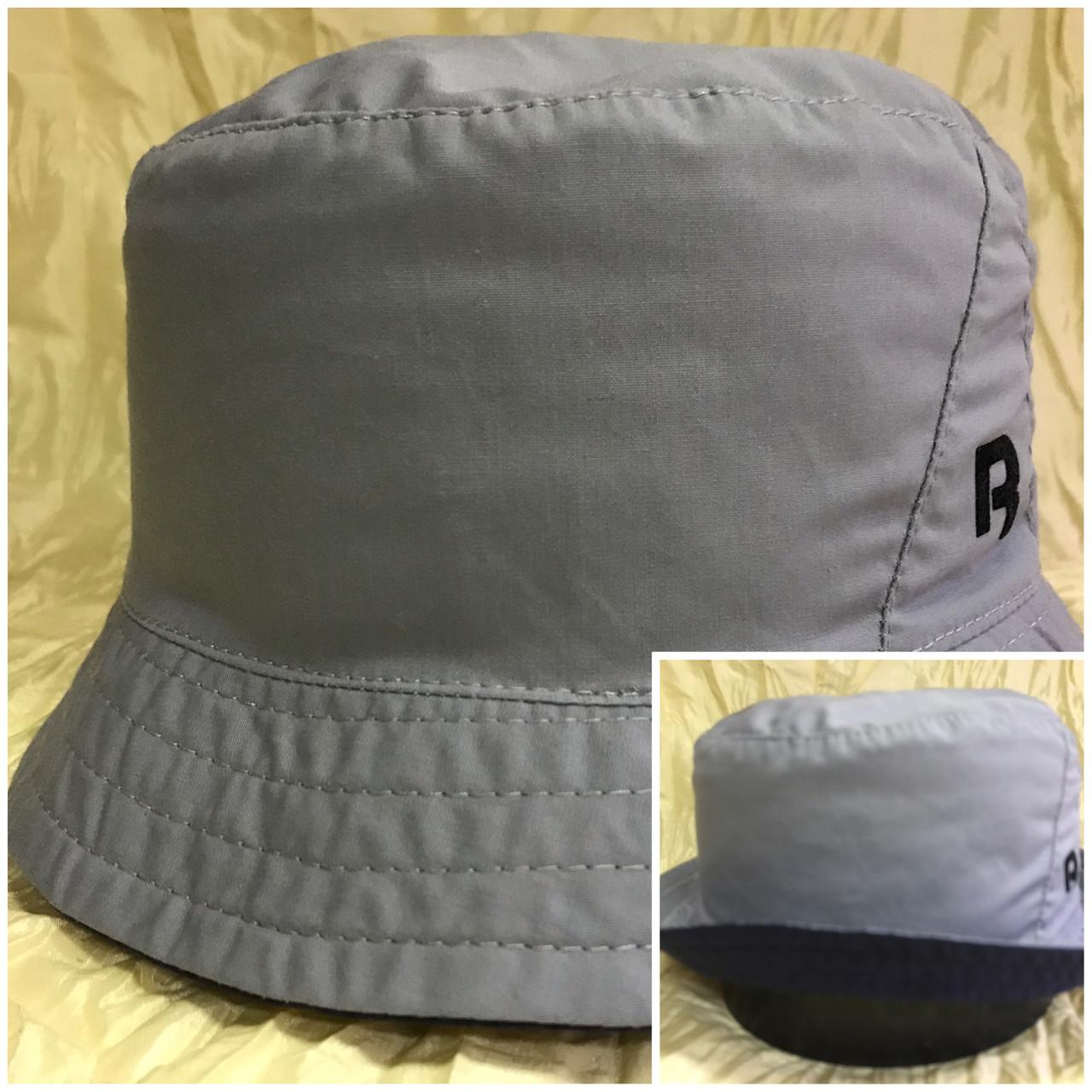 Мужская спортивная панама цвет серый с синим 56-58