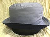 Мужская спортивная панама цвет серый с синим 56-58, фото 2