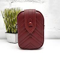 Жіноча сумка клатч гаманець кожзам бордовий Арт.Y-0823 r.wine (Китай)