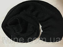 Вязаный  шарф из ангоры размер 150 см  х 17 см только чёрный и белый