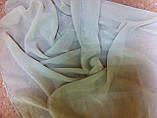 Легкий  шарф   из шифона  цвет оливковый, фото 2