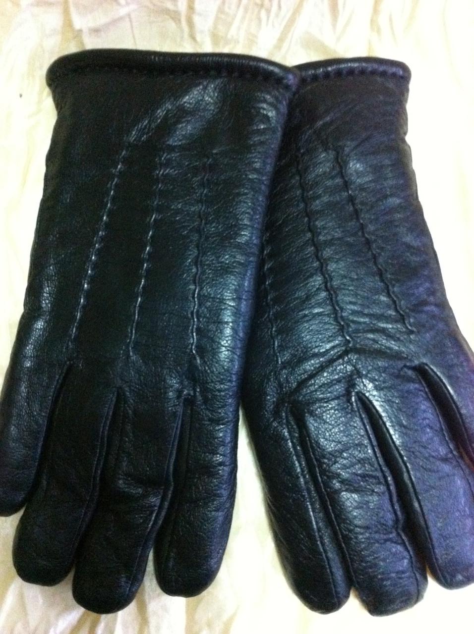 Перчатки мужские из кожи и плотной шерстяной набивкой