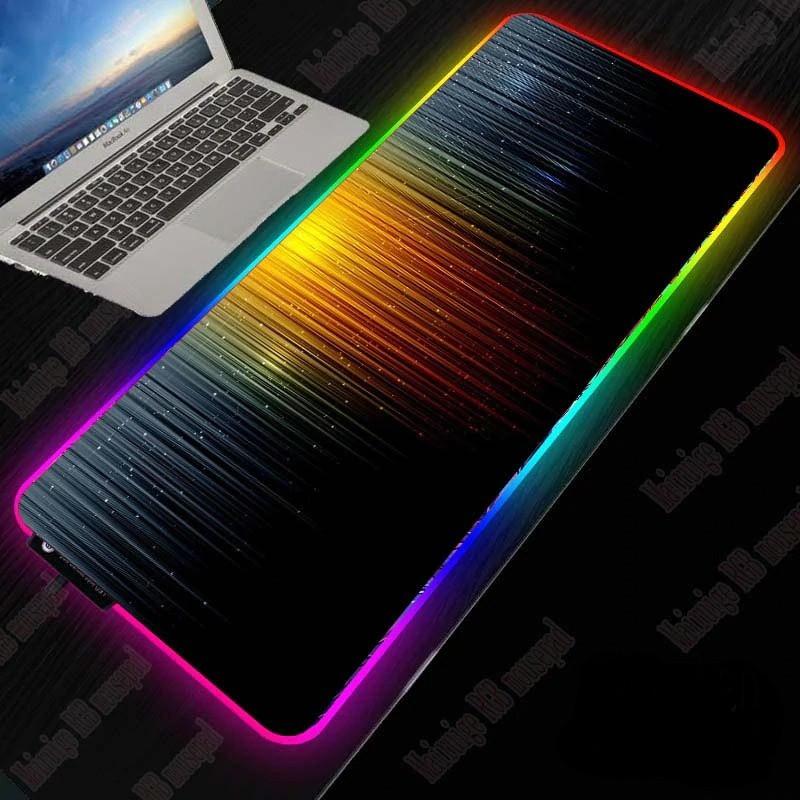 Большой игровой RGB коврик для мыши с светодиодной подсветкой 40 * 90 см