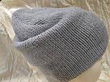 Женская шапочка украшенная камнями цвет  бежевый, фото 4