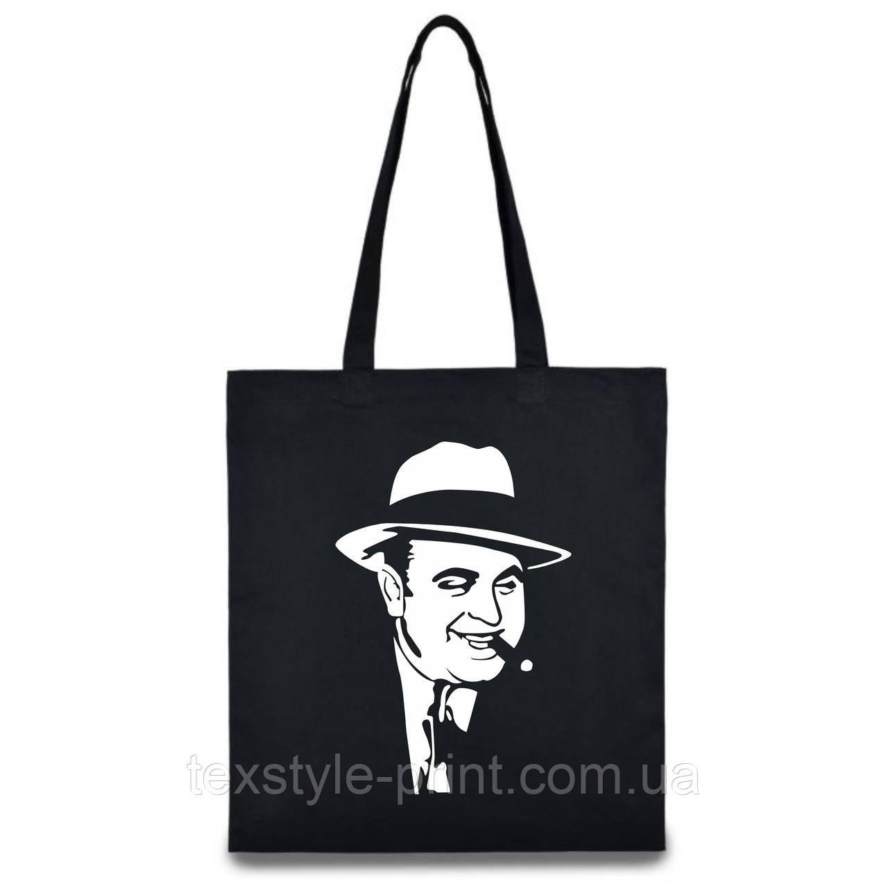 Эко сумка из хлопка. Al Capone