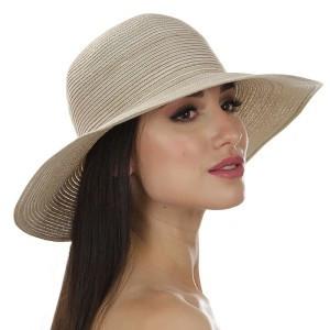 Женская шляпа для лета  Цвет бежевый