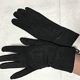 Женские перчатки эко замша на флисе с сенсором для телефона, фото 3