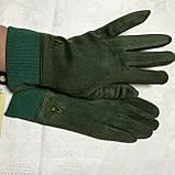Женские перчатки эко замша на флисе с сенсором для телефона, фото 4