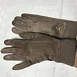 Женские перчатки эко замша на флисе с сенсором для телефона, фото 6