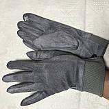 Женские перчатки эко замша на флисе с сенсором для телефона, фото 7
