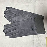 Женские перчатки эко замша на флисе с сенсором для телефона, фото 8