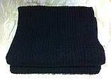 Тёплый вязаный шарф цвет графит серый синий бордовый 160*24, фото 3