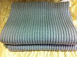 Тёплый вязаный шарф цвет графит серый синий бордовый 160*24, фото 6
