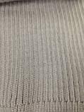 Тёплый вязаный шарф цвет графит серый синий бордовый 160*24, фото 7