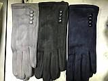 Женские перчатки эко замша  разные цвета, фото 2