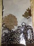 Хустка білий з коричневим малюнком 85 см, фото 2