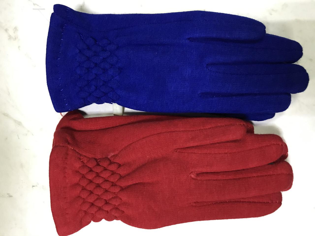 Деиские трикотажные перчатки. на: флисе цвет синий и малиновый