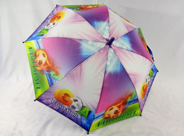 """Крепкие зонты для мальчиков """"Футбол"""" трость на 8 спиц"""