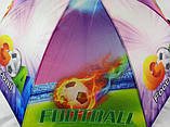 """Крепкие зонты для мальчиков """"Футбол"""" трость на 8 спиц, фото 2"""