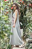Светло серое платье  длинное  вискоза хлопок с рисунком  размер 42-50 розовый, фото 4