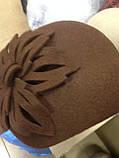 Фетровый шляпа с  выпуклой складкой, фото 2