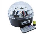 Лазерний проектор, диско куля, світломузика з динаміком USB пультом, фото 2