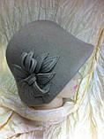 Фетровая шляпа с маленькими  полями, фото 2