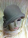 Фетровая шляпа с маленькими  полями, фото 3