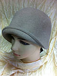 Фетровая шляпа с маленькими  полями, фото 4