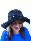 Элегантная шляпка с большими  мягкими полями из плащёвки, фото 2