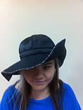 Элегантная шляпка с большими  мягкими полями из плащёвки, фото 3