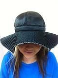 Элегантная шляпка с большими  мягкими полями из плащёвки, фото 4