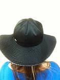Элегантная шляпка с большими  мягкими полями из плащёвки, фото 5