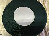 Женский зелёный шерстяной гладкой вязки берет-шапка, фото 3