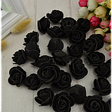 Розы из латекса, зеленый (ФОМ, FOAM) 500 шт пачка (для мишек), фото 5
