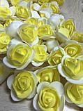 Розы из латекса, зеленый (ФОМ, FOAM) 500 шт пачка (для мишек), фото 9