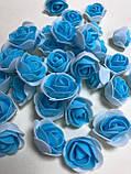 Розы из латекса, зеленый (ФОМ, FOAM) 500 шт пачка (для мишек), фото 10