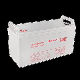 Аккумулятор гелевый LogicPower LPM-GL 12 - 120 AH для солнечной электростанции
