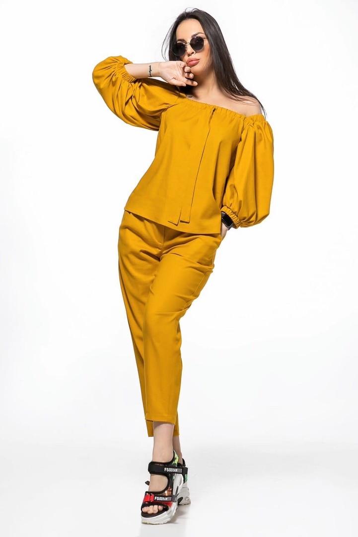 Молодежный летний костюм размер S, M, L  цвет желтый и зеленый