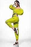 Молодежный летний костюм размер S, M, L  цвет желтый и зеленый, фото 2