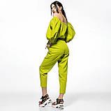Молодежный летний костюм размер S, M, L  цвет желтый и зеленый, фото 4
