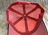 Двухцветная коралловая бейсболка детско подростковая  для девочек сетка, фото 2