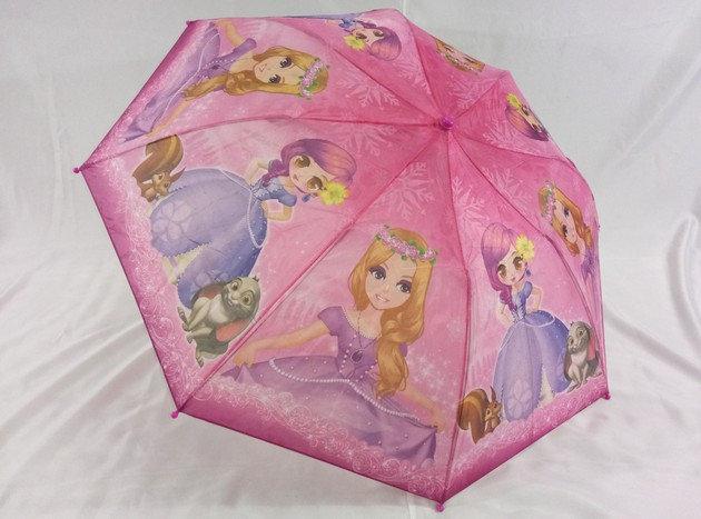 Зонты для девочек в 2 сложения на 8 стальных спиц