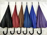 Зонт - трость полуавтомат унисекс на 16 карбоновых спиц цвет темно синий, фото 4