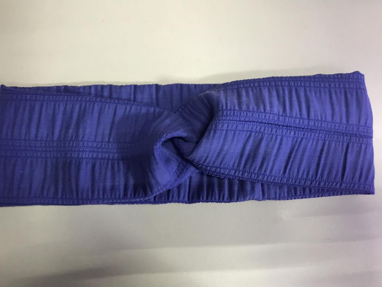 Женская повязка из жатки ширина 8.7 см  цвет фиолетовый